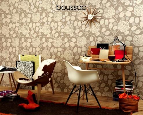 Boussac Tapeten - diese Tapten von Boussac erhältlich bei Decoris Interior Design Zürich Innenarchitektur und Inneneinrichtung am Zürichberg