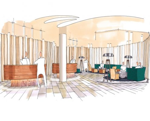 Hotel Mövenpick Lausanne Ouchy - Decoris Interior Design Zürich-Innenarchitektur Zürich-Inneneinrichtung Zürich am Zürichberg Innenarchitektur, Planung, Gestaltung, Projektierung