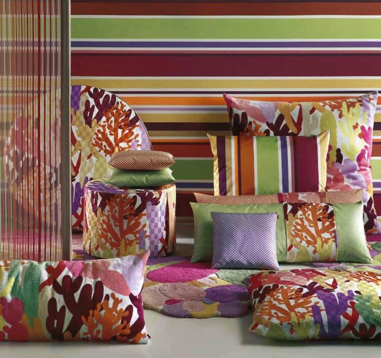 Missoni Stoffe - diese Stoffe von Missoni erhältlich bei Decoris Interior Design Zürich Innenarchitektur und Inneneinrichtung am Zürichberg
