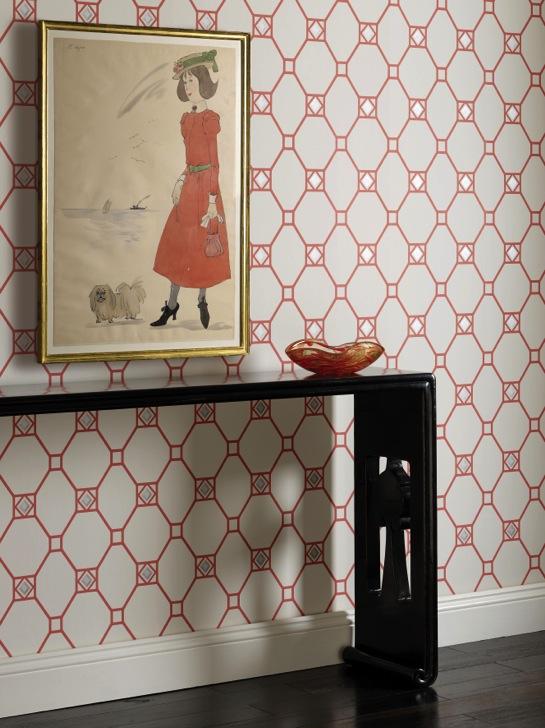 Nina Campbell Tapeten - diese Tapete von Nina Campbell erhältlich bei Decoris Interior Design Zürich Innenarchitektur und Inneneinrichtung am Zürichberg